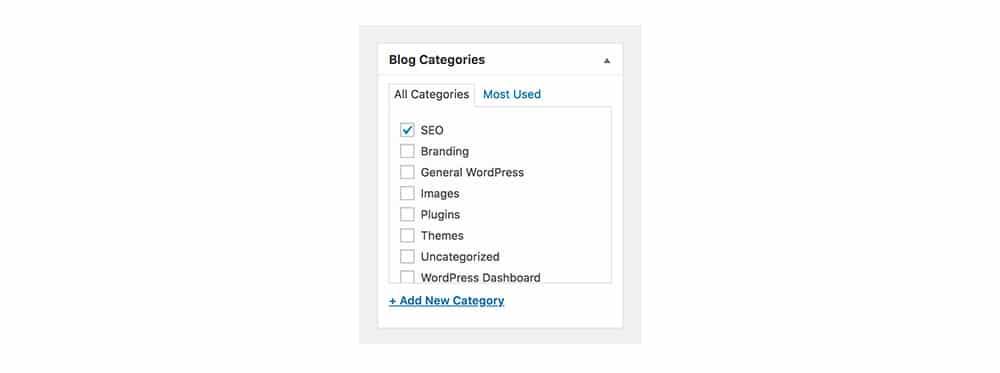 Blog Category - Create SEO Friendly Blog Post